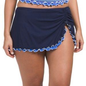 Profile Gottex Ruffled Hem Side Slit Swim Skirt